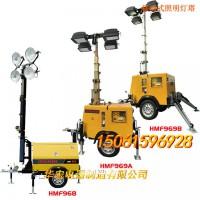 柴油发电机拖车式移动 LED 照明升降灯塔